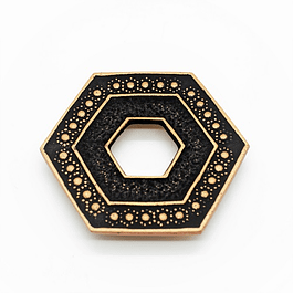 Salvamantel Iwachu Kikkou Oro/ Negro 9.5 cm