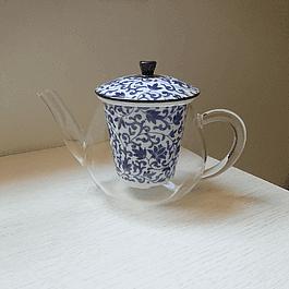 Tetera Oshare 480 ml de Borosilicato y Filtro de porcelana japonesa