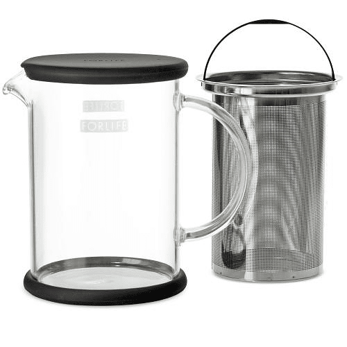 Tetera Lucent Glass 710 ml Negro