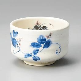 Chawan japonés Flores Azules para matcha 400 ml