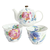 Juego de té de porcelana japonesa Hanakotoba