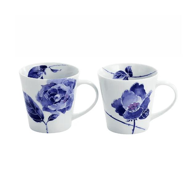 Juego de tazas de porcelana japonesa Kiyora Bara (Rosa)