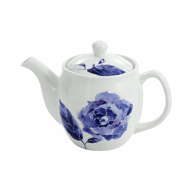 Tetera de porcelana japonesa Kiyora Bara 600 ml