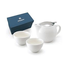 Juego de té para 2 personas Zero Japan Blanco 450 ml