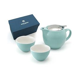 Juego de té para 2 personas Zero Japan Turquesa 450 ml