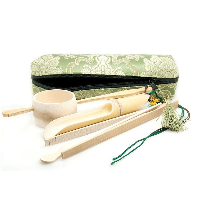Accesorios Gongfu con estuche de seda