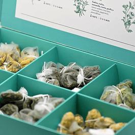 Caja de Selección Tizana 6 Agüitas en Muselinas