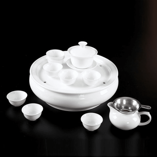 Set Gongfu Porcelana Blanca