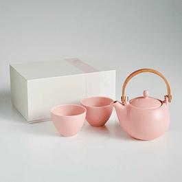 Juego de té para 2 Saliu Yui Rosado 330 ml