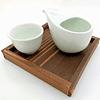 Houhin para Gyokuro - 3 piezas de madera y porcelana 10-16790