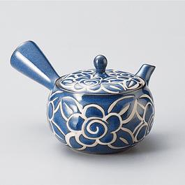 Kyusu Azul Esmaltada 270 ml