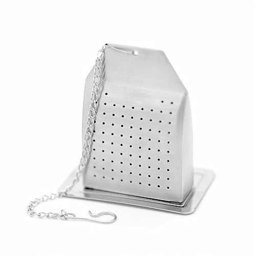Infusor bolsita de acero con platillo