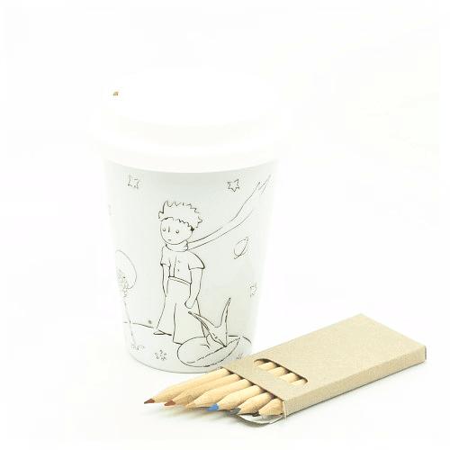Travel Mug Principito para pintar