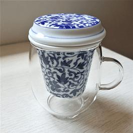 Mug Oshare 240 ml de Borosilicato y Filtro de porcelana japonesa