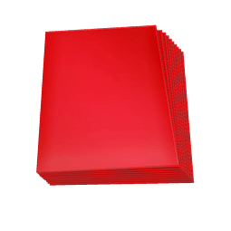 Set de 60 protectores Small Topdeck color Rojo