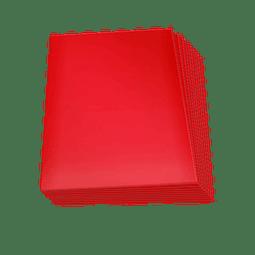 Set de 60 protectores Small Topdeck color Rojo