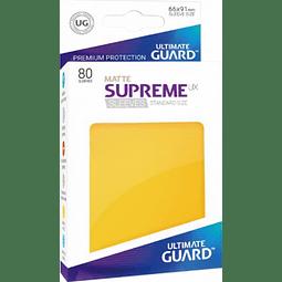 Set de 80 protectores Standard Ultimate Guard - Amarillo