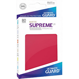 Set de 80 protectores Standard Ultimate Guard - Rojo