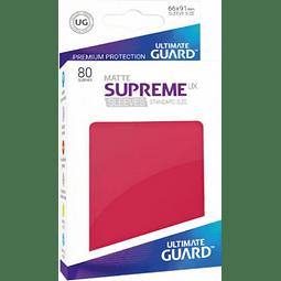 Set de 80 protectores Standard Ultimate Guard - Rojo