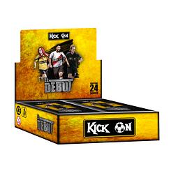 """Display 24 sobres Kick On edición """"El Debut"""" +  Set de protectores ultra pro"""