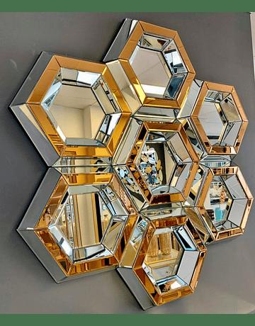 Espejo Honey Gold