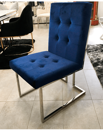 Silla Octavia Velvet Azul