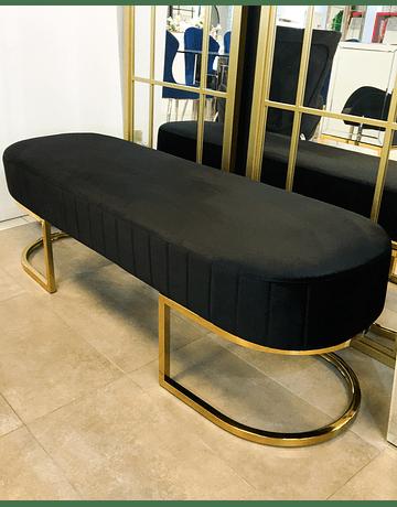 Banqueta Sabinna Velvet Negro