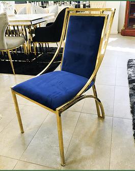 Silla Florence Velvet Azul