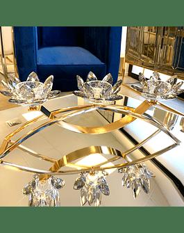 Candelabro Metal Cristal