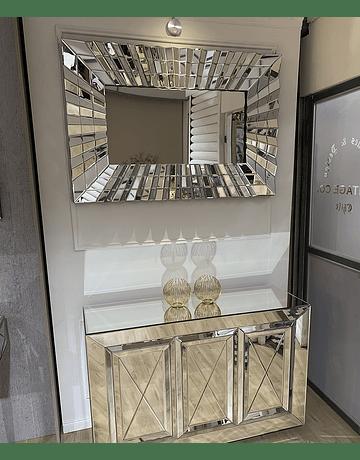 Espejo de muro abanico