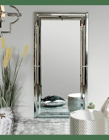 Espejo de pie marco curvo