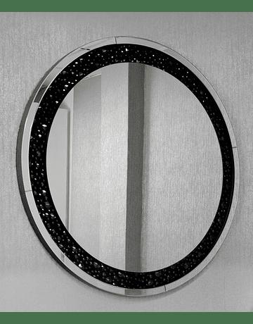 Espejo redondo con brillos