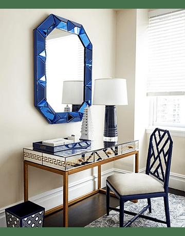 Espejo Marco Azul
