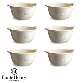 Set 6 Bowl color crema
