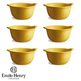 Set 6 Bowl Para Gratinar color amarillo