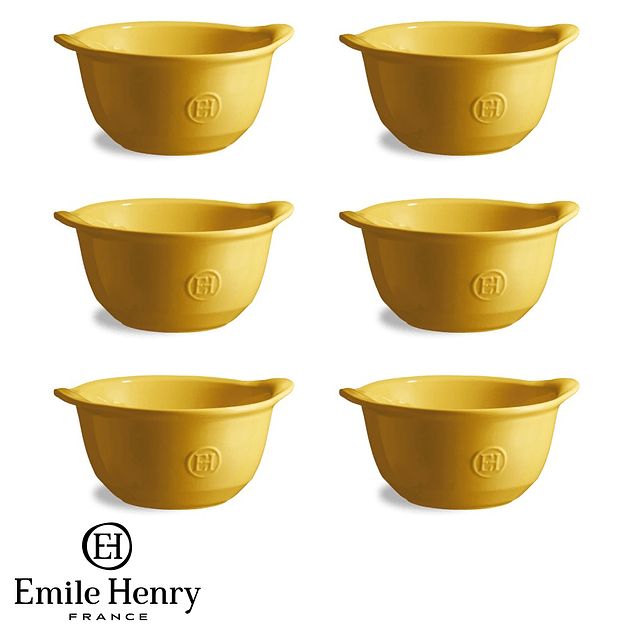 Set 6 Bowl color amarillo