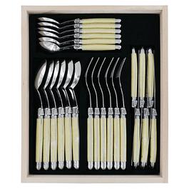 Set de 24 cubiertos Laguiole by Andre Verdier color Hueso