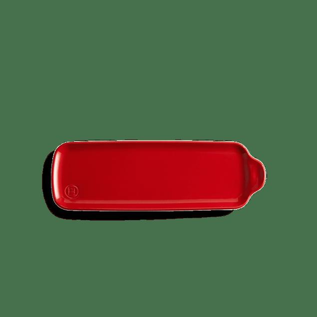 Bandeja Aperitivo mediana 10,5x31,5cm color rojo