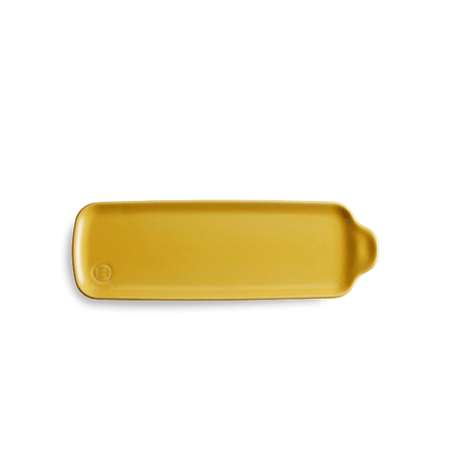 Bandeja Aperitivo mediana 10,5x31,5cm color amarillo