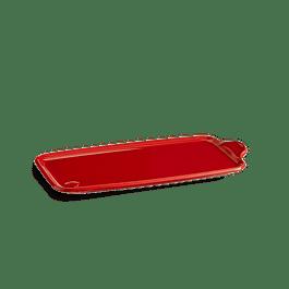 Bandeja Aperitivo grande 31,5 X 16 cms color rojo