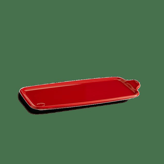 Bandeja Aperitivo grande 16x31,5cm color rojo