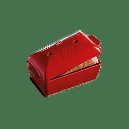 Molde Pan Rectangular 22 x 13 x 12 cm rojo