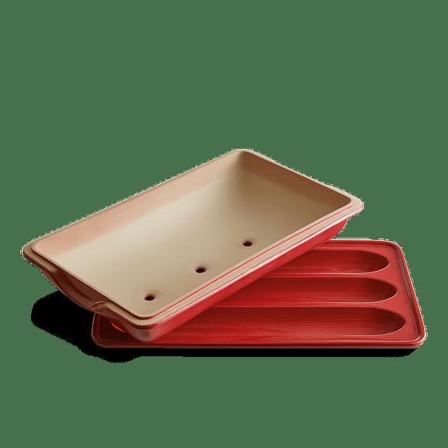Horno de Pan Baguette 39 x 23 cm rojo