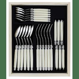 Set de 24 cubiertos Laguiole by Andre Verdier color Ivory