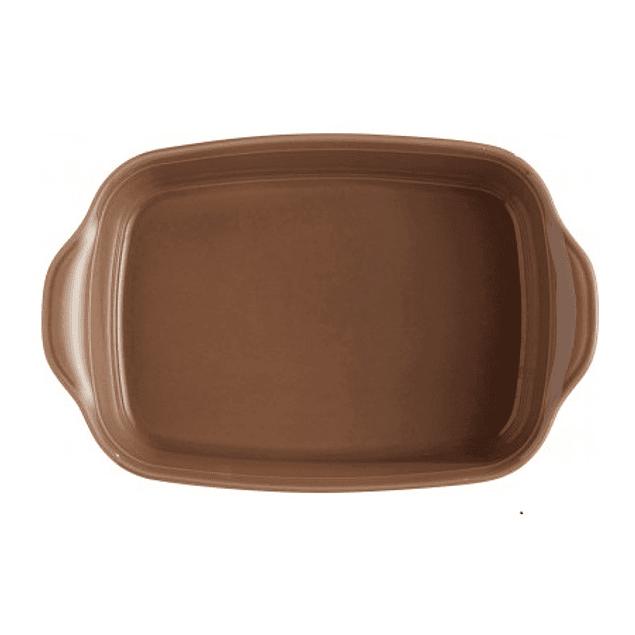Fuente para horno rectangular pequeña café