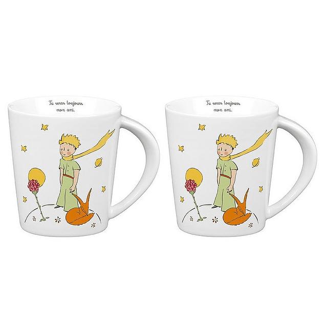 Set 2 mugs de porcelana Principito