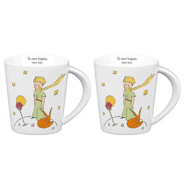 Set 2 mugs de porcelana Principito