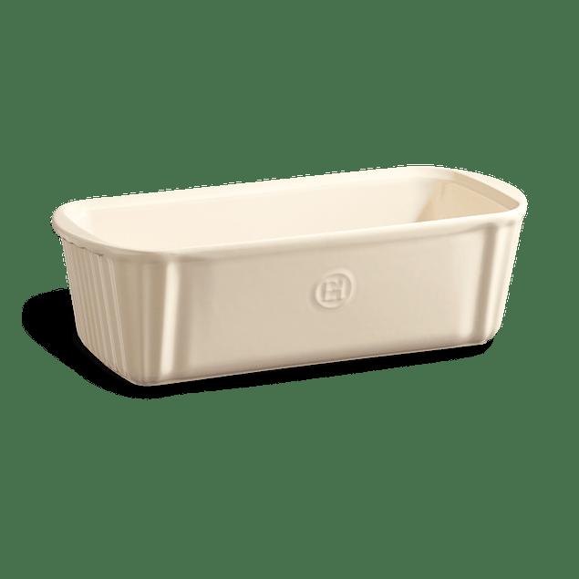Molde rectangular para horno color crema