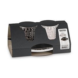 Set 2 Tazas con platillo EXPRESSO 100% COFFEE
