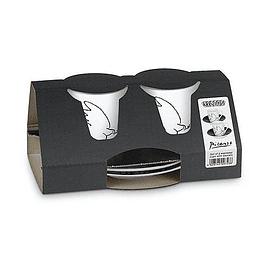 Set 2 Tazas con platillo EXPRESSO PICASSO LA COLOMBE